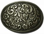 Flower Scroll Belt Buckle. Code BUC019